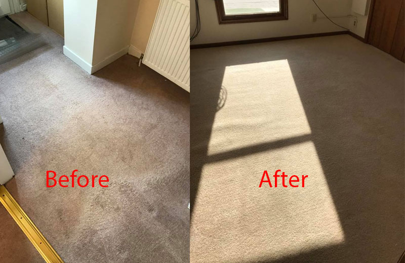 Carpet Steam Cleaning (Before - After)