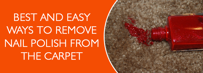 Remove Nail Polish from the Carpet Melbourne