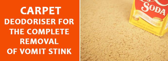 Carpet Deodoriser removal of vomit stink Melbourne